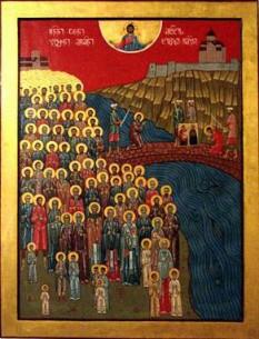 Icoana celor 100 000 de martiri georgieni de la Tbilisi - foto - cubreacov.wordpress.com