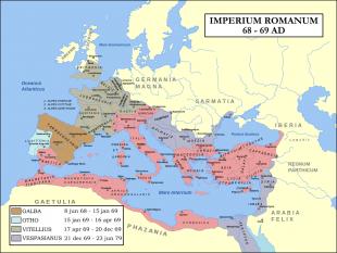 Imperiul Roman 68-69 foto - en.wikipedia.org