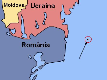 Insula Șerpilor (Poziționare geografică) - foto: ro.wikipedia.org