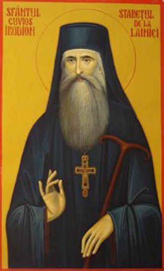 Sfântul Cuvios Irodion de la Lainici, (1821 - 3 mai 1900), a trăit în secolul al XIX-lea, fiind monah la mănăstirea Cernica, apoi stareţ al Mănăstirii Lainici.(1854-1900). Prăznuirea sa se face pe 3 mai - foto: manastirealainici.ro