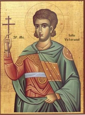 Sfântul Mucenic Iuliu Veteranul a trăit în secolele III – IV, fiind contemporan cu Sfinţii Mucenici Pasicrat şi Valentin. A primit mucenicia în vremea Marii Persecuţii din vremea împăraţilor Diocleţian şi Maximian, în anul 304. Biserica Ortodoxă îl prăznuieşte în ziua de 27 mai - foto: doxologia.ro