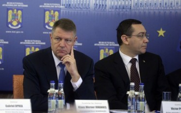 Klaus Iohannis şi Victor Ponta FOTO Mediafax
