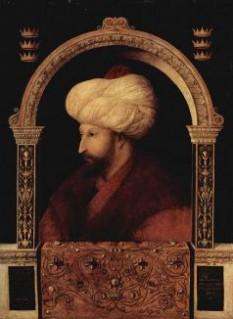 Mahomed al II-lea Fatih (Cuceritorul, Mehmed al II-lea, n. 30 martie 1432 — d. 3 mai 1481), cel de-al treilea fiu al sultanului Murad al II-lea, a ajuns sultan la vârsta de 19 ani, a fost al șaptelea sultan al Imperiului Otoman între 1444 și 1446, și între 1451 și 1481 - foto cersipamantromanesc.wordpress.com