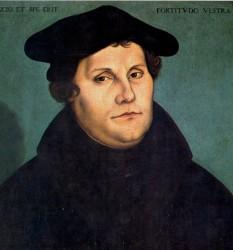 Martin Luther (n. 10 noiembrie 1483, Eisleben, Saxonia - d. 18 februarie 1546), pastor și doctor în teologie, a fost primul reformator protestant ale cărui reforme au dus la nașterea Bisericii Evanghelice-Luterane - in imagine, Martin Luther, 1529 - portret de Lucas Cranach cel Bătrân - foto: ro.wikipedia.org