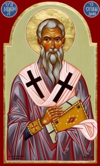 Sfântul Ierarh Mihail Mărturisitorul, Episcopul Sinadei. Prăznuirea sa de către Biserica Ortodoxă se face la data de 23 mai - foto: doxologia.ro