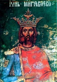 Mircea cel Bătrân (n. 1355 – d. 31 ianuarie 1418), domnul Țării Românești între 23 septembrie 1386 - noiembrie 1394 (sau mai 1395) și între ianuarie 1397 - 31 ianuarie 1418 - in imagine, Mircea cel Bătrân - pictură din biserica Episcopiei de Argeș - foto: ro.wikipedia.org