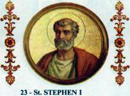 Sfântul Ştefan I, papă a deținut funcția papală în perioada 12 mai 254 - 2 august 257 - foto: ro.wikipedia.org