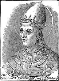 Papa Grigore al VII-lea - foto preluat de pe cersipamantromanesc.com