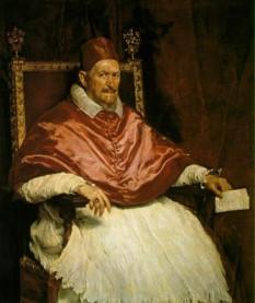 Papa Inocențiu al X-lea (Giovanni Battista Pamphilj sau Pamphili) (n. 6 mai 1574 Roma – d. 7 ianuarie 1655 Roma) a deținut funcția de papă între anii 1644-1655 - foto (Pictura de Diego Velasquez): cersipamantromanesc.wordpress.com