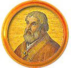 Papa Sergiu al IV-lea (n. circa 970, Roma; d. 12 mai 1012) a fost un papă al Romei (din 31 iulie 1009 până la decesul său). Numele său înseamnă: servitorul din casa sergiilor (lat.) - foto -  en.wikipedia.org