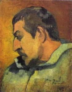 Paul Gauguin,autoportret – Musee d'Orsay - foto preluat de pe cersipamantromanesc.wordpress.com