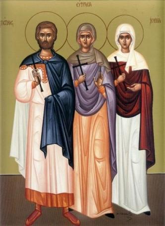 Sfinții Mucenici Petru, Eufrasia și Iulia - foto: doxologia.ro