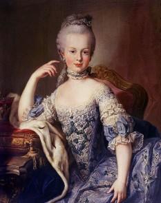 Maria Antonia Iosefa Iohanna de Habsburg-Lorena (n. 2 noiembrie 1755 - d. 16 octombrie 1793), cunoscută în istorie sub numele de Maria Antoaneta, s-a născut arhiducesă de Austria, mai târziu devenind regină a Franței și a Navarei - in imagine, Marie Antoinette la vârsta de doisprezece ani, de Martin van Meytens - foto: ro.wikipedia.org