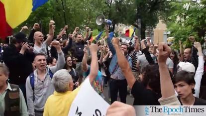 Protest împotriva defrişărilor abuzive -foto (captura video) - epochtimes.ro