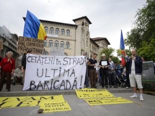 Protest impotriva defrisarilor abuzive - Bucuresti-Universitate - foto preluat de pe mediafax.ro