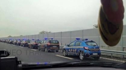 Maşinile ANAF au invadat Autostrada Soarelui - foto - libertatea.ro