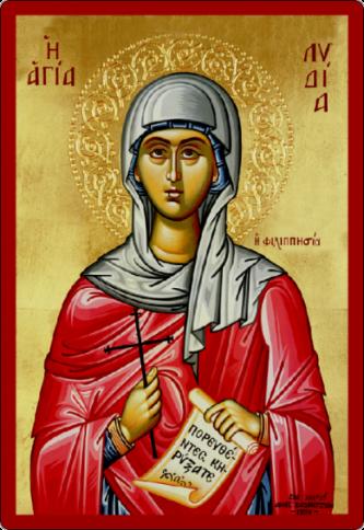 Sfânta Lidia din Filipi. Prăznuirea sa de către Biserica Ortodoxă se face la data de 20 mai - foto: doxologia.ro