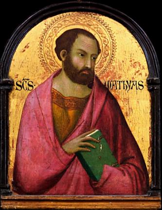 Apostolul Matia (d. ca. 63, în Etiopia) a fost cel pe care cei unsprezece apostoli ai lui Isus Cristos l-au ales în locul lui Iuda Iscariot, după sinuciderea acestuia din urmă. Episodul este evocat în Fapte - foto: ro.wikipedia.org
