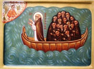"""Sfantul irlandez Brendan, supranumit """"Navigatorul"""" -  foto preluat de pe cersipamantromanesc.com"""
