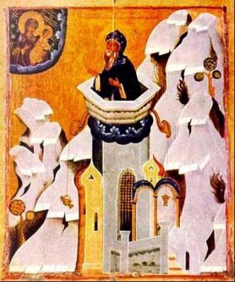 Sfântul Cuvios Simeon cel din Muntele Minunat. Prăznuirea sa de către Biserica Ortodoxă se face la data de 24 mai - foto: doxologia.ro