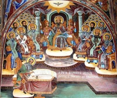 Sfinții Părinți de la Sinodul al II-lea Ecumenic - foto preluat de pe doxologia.ro