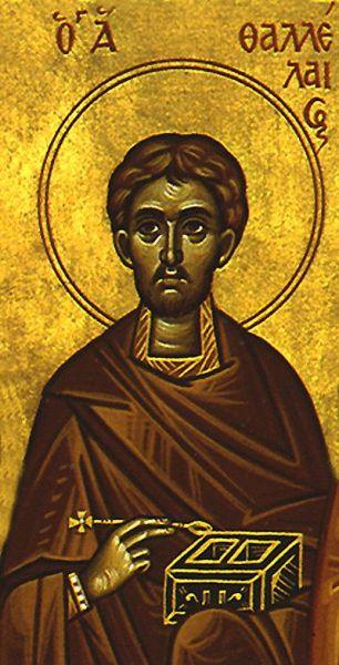 Sfântul Mucenic Talaleu. Prăznuirea sa de către Biserica Ortodoxă se face la data de 20 mai - foto: doxologia.ro