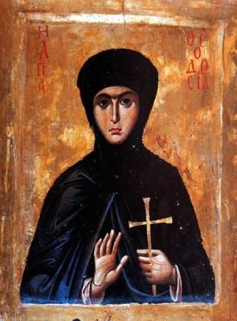 Sfânta Muceniță Teodosia, fecioara. Prăznuirea sa de către Biserica Ortodoxă se face la data de 29 mai - foto: doxologia.ro