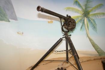 arma Puckle , o  arma  considerata  a fi fost prima  mitraliera - foto preluat de pe cersipamantromanesc.com