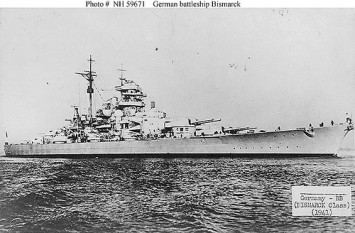 Cuirasatul german Bismarck - foto preluat de pe cersipamantromanesc.wordpress.com