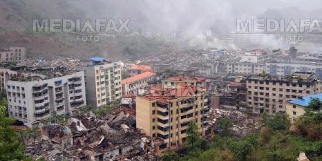Cutremur in provincia Sichuan din China, 12 mai 2008 - foto preluat de pe mediafax.ro
