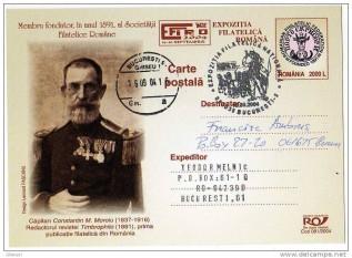 Constantin M. Moroiu, Primului Mare Maestru, conducator al Marii Loji Naţionale din România - foto preluat de pe delcampe.net