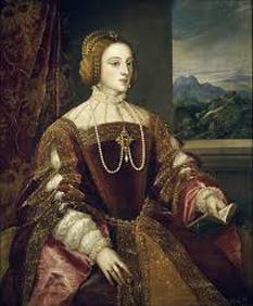 Tizian- Portretul reginei Isabela a Portugaliei - foto preluat de pe cersipamantromanesc.wordpress.com