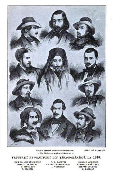 Fruntașii Revoluției de la 1848, din Țara Românească - foto preluat de pe ro.wikipedia.org