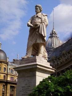 Statuia carturarului iluminist Gheorghe Lazar - foto preluat de pe cersipamantromanesc.wordpress.com