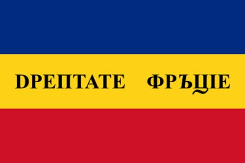 Prima variantă a steagului revoluţionar de la 1848 - foto: ro.wikipedia.org