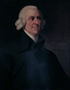 Adam Smith (16 June 1723 NS (5 June 1723 OS) – 17 July 1790) economist scotian, unul dintre pionierii filosofiei sociale si ai economiei politice - foto - en.wikipedia.org