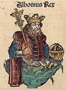 Alboin (n. după 530 – d. 28 iunie 572, Verona) rege al longobarzilor din dinastia Gausiană, din jurul anului 560 până în 572 - foto - ro.wikipedia.org