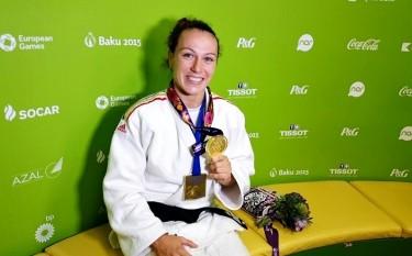 Judokana Andreea Chițu - medaliată cu aur la Jocurile Europene de la Baku foto - stiri.tvr.ro (baku2015.com)
