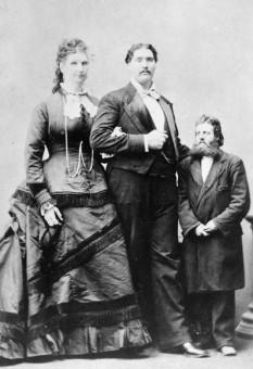 Anna Swan si Martin Buren foto - thetallestman.com
