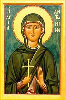 Sfinta Muceniţa Antonina.Prăznuirea sa de către Biserica Ortodoxă se face la data de 12 iunie - foto: calendar-ortodox.ro