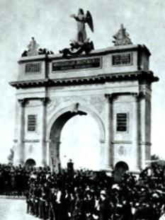 Intrarea Armatei române în Bucureşti în 1878 - fotografie de Franz Mandy - foto: ro.wikipedia.org