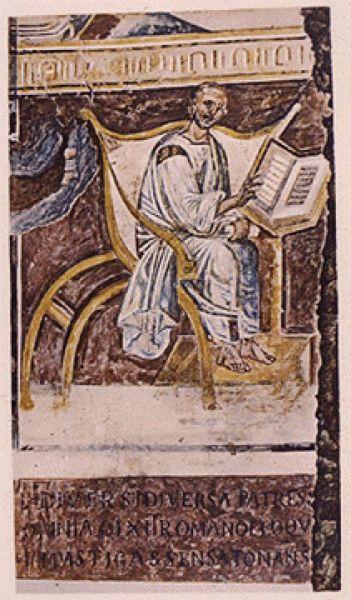 Cel întru sfinți Părintele nostru, Fericitul Augustin (n. 13 noiembrie 354, Tagaste, Numidia - d. 28 august 430, Hippo Regius, pe teritoriul Algeriei de azi) a fost episcop de Hipona (395 - 430) și un important gânditor creștin al vremii sale. A fost fiul cel mare al Sfintei Monica. Este prăznuit în Biserica Ortodoxă la 15 iunie, iar în Biserica Romano-Catolică la 28 august - in imagine, Cea mai veche reprezentare a Sf. Augustin păstrată până în zilele noastre, Bazilica din Lateran (sec. al VI-lea) - foto: ro.orthodoxwiki.org