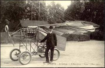 Aurel Vlaicu (n. 19 noiembrie 1882, Binținți, lângă Orăștie, județul Hunedoara - d. 13 septembrie 1913, Bănești, lângă Câmpina) inginer român, inventator și pionier al aviației române și mondiale - foto: cersipamantromanesc.wordpress.com