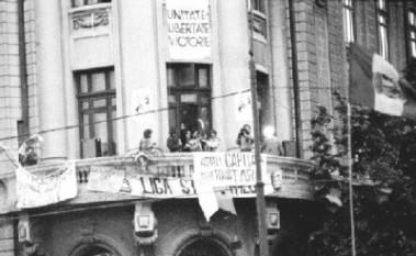 Balconul Universităţii 1990 - foto - stiri.tvr.ro