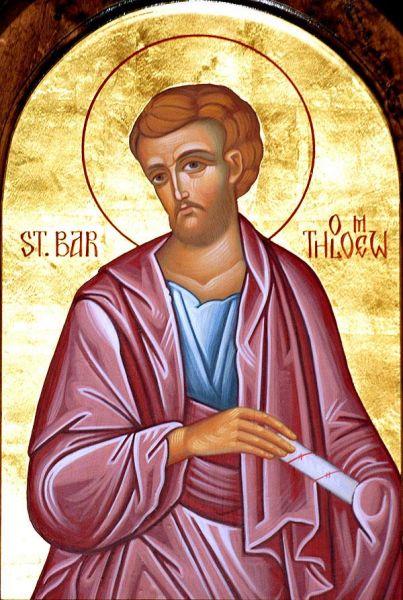 Sfântul Apostol Bartolomeu. Prăznuirea sa de către Biserica Ortodoxă se face la data de 11 iunie - foto: doxologia.ro