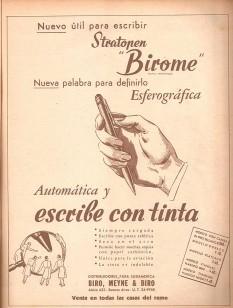 Birome's advertising in Argentine magazine Leoplán, 1945 - foto - en.wikipedia.org