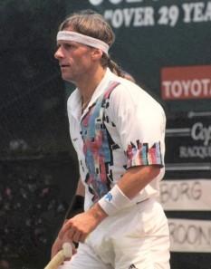 Björn Borg (n. 6 iunie 1956) a fost un jucător suedez de tenis și fost număr 1 mondial. Este considerat de mulți tenismeni ca o mare legendă a tenisului. Între 1980 - 1984 a fost căsătorit cu tenismena din România Mariana Simionescu - foto: en.wikipedia.org