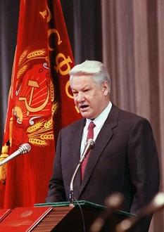 Boris Nikolaievici Elțin  (n. 1 februarie 1931 în Sverdlovsk [azi Ekaterinburg], Rusia, URSS - d. 23 aprilie 2007) în 1991, primul președinte al Rusiei, precum și primul conducător din istoria acestei țări ales în mod direct - foto: ro.wikipedia.org