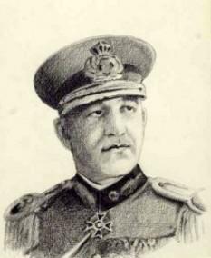 """Constantin Z. (""""Piki"""") Vasiliu (n. 16 mai 1882 Focșani - d. 1 iunie 1946, general român, comandant al Jandarmeriei Române (1940 - 23 August 1944) și Subsecretar de Stat la Ministerul de Interne (3 ianuarie 1942 - 23 august 1944) - foto - cersipamantromanesc.wordpress.com"""