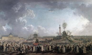 Sărbătoarea  Fiintei Supreme, pe  Champ de Mars – Paris (20 Prairial , anul II– 08 iunie 1794) -  foto - cersipamantromanesc.wordpress.com